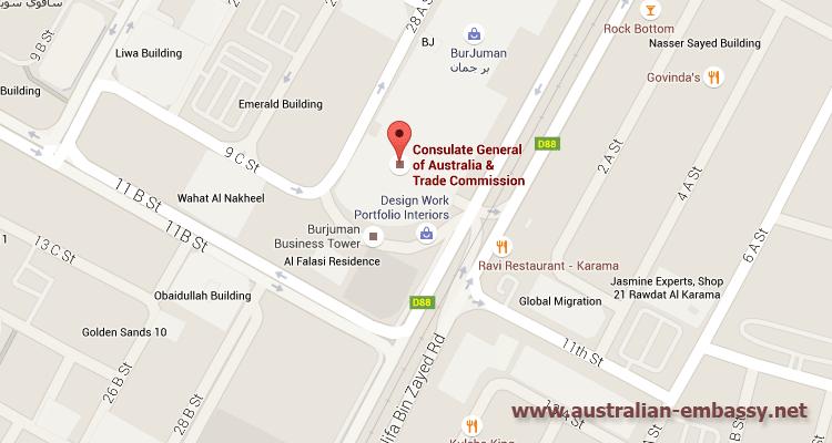 Australian Embassy United Arab Emirates Australian Embassy - Us consulate dubai location map